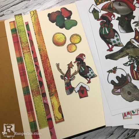 Dylusions Hats Off To Christmas Journal Step 7