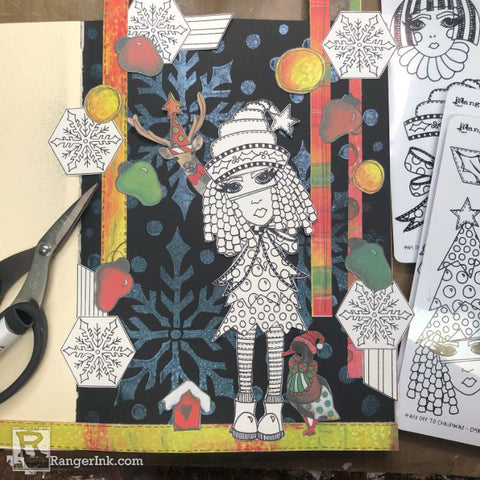 Dylusions Hats Off To Christmas Journal Step 8