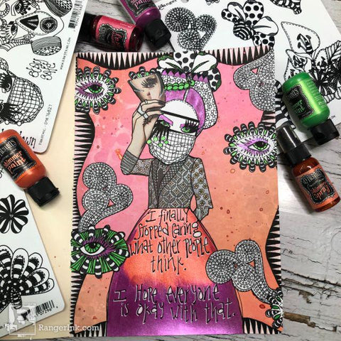 Dylusions Jumpstart Into Playtime Journal Page by Denise Lush