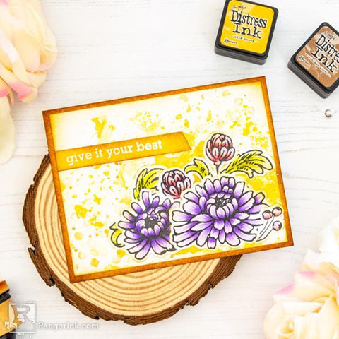 MAKE ART Vintage Floral Card by Laura Volpes