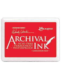 NEW! Wendy Vecchi Jumbo Archival Ink™ Pads Carnation Red