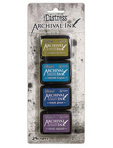 NEW! Tim Holtz® Distress Archival Mini Ink Kit #2