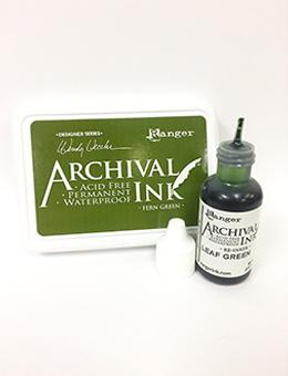 Wendy Vecchi Archival Ink™ Pad Re-Inker Fern Green, 0.5oz Ink Wendy Vecchi