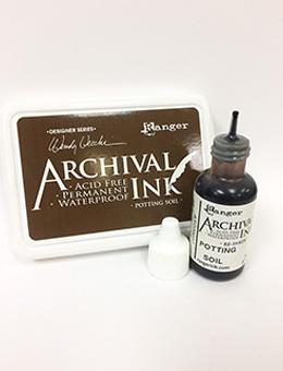 Wendy Vecchi Archival Ink™ Pad Re-Inker Potting Soil, 0.5oz Ink Wendy Vecchi