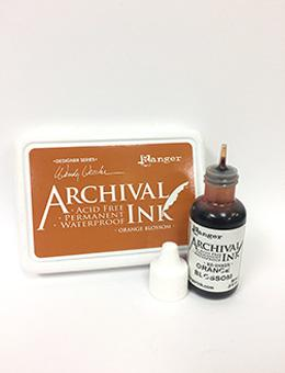 Wendy Vecchi Archival Ink™ Pad Re-Inker Orange Blossom, 0.5oz Ink Wendy Vecchi