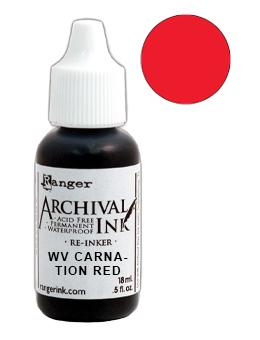 Wendy Vecchi Archival Ink™ Pad Re-Inker Carnation Red, 0.5oz Ink Wendy Vecchi