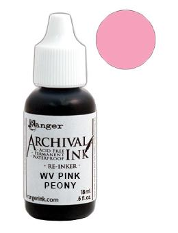 Wendy Vecchi Archival Ink™ Pad Re-Inker Pink Peony, 0.5oz Ink Wendy Vecchi
