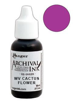 Wendy Vecchi Archival Ink™ Pad Re-Inker Cactus Flower, 0.5oz Ink Wendy Vecchi