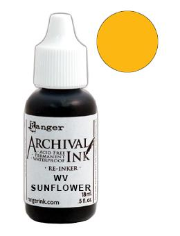 Wendy Vecchi Archival Ink™ Pad Re-Inker Sunflower, 0.5oz Ink Wendy Vecchi