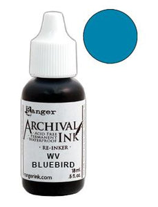 Wendy Vecchi Archival Ink™ Pad Re-Inker Bluebird, 0.5oz Ink Wendy Vecchi