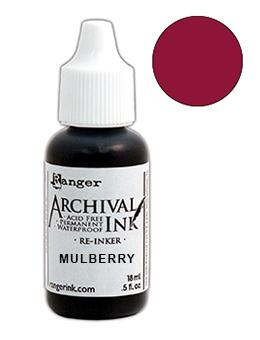 Wendy Vecchi Archival Ink™ Pad Re-Inker Mulberry, 0.5oz Ink Wendy Vecchi