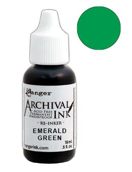 Archival Ink™ Pads Re-Inker Emerald Green, 0.5oz Ink Archival Ink