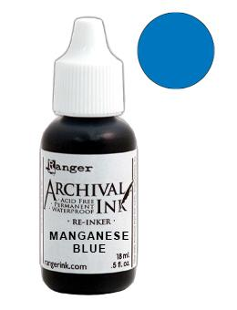 Archival Ink™ Pads Re-Inker Manganese Blue, 0.5oz Ink Archival Ink