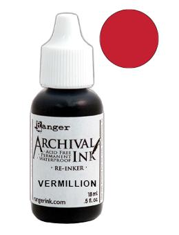 Archival Ink™ Pads Re-Inker Vermillion, 0.5oz Ink Archival Ink