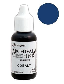 Archival Ink™ Pads Re-Inker Cobalt, 0.5oz Ink Archival Ink