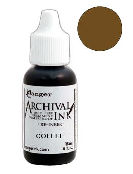 Archival Ink™ Pads Re-Inker Coffee, 0.5oz Ink Archival Ink