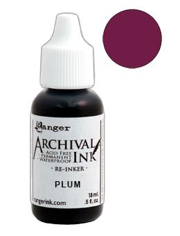Archival Ink™ Pads Re-Inker Plum, 0.5oz Ink Archival Ink