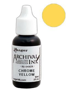 Archival Ink™ Pads Re-Inker Chrome Yellow, 0.5oz Ink Archival Ink