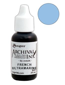 Archival Ink™ Pads Re-Inker French Ultramarine, 0.5oz Ink Archival Ink