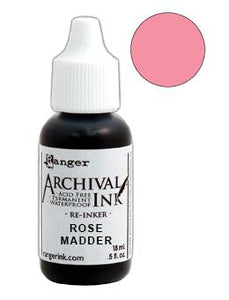 Archival Ink™ Pads Re-Inker Rose Madder, 0.5oz Ink Archival Ink