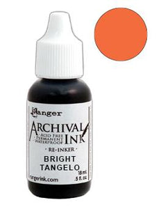 Archival Ink™ Pads Re-Inker Bright Tangelo, 0.5oz Ink Archival Ink
