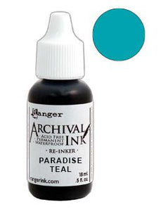 Archival Ink™ Pads Re-Inker Paradise Teal, 0.5oz Ink Archival Ink
