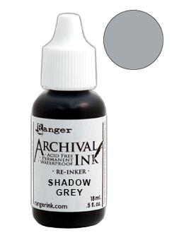 Archival Ink™ Pads Re-Inker Shadow Grey, 0.5oz Ink Archival Ink