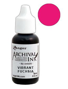 Archival Ink™ Pads Re-Inker Vibrant Fuchsia, 0.5oz Ink Archival Ink