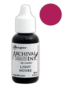 Archival Ink™ Pads Re-Inker Light House, 0.5oz Ink Archival Ink