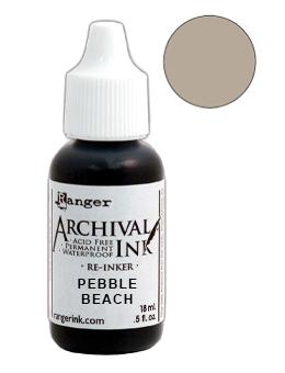Archival Ink™ Pads Re-Inker Pebble Beach, 0.5oz Ink Archival Ink