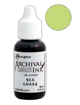 Archival Ink™ Pads Re-Inker Sea Grass, 0.5oz Ink Archival Ink