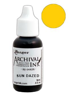 Archival Ink™ Pads Re-Inker Sun Dazed, 0.5oz Ink Archival Ink