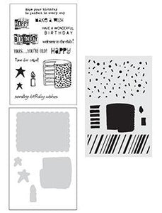 Wendy Vecchi Stamp, Die & Stencil Set - Birthday Bash Set Wendy Vecchi