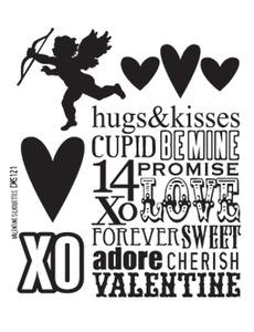 Tim Holtz® Stampers Anonymous - Cling Mount Stamps - Valentine Silhouettes Stamps Tim Holtz Other