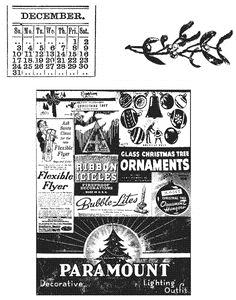 Tim Holtz® Stampers Anonymous - Cling Mount Stamps - Holidays Past
