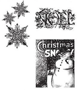 Tim Holtz® Stampers Anonymous - Cling Mount Stamps - Winter Wonder