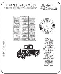 Tim Holtz® Stampers Anonymous - Cling Mount Stamps - Elements of Time Stamps Tim Holtz Other