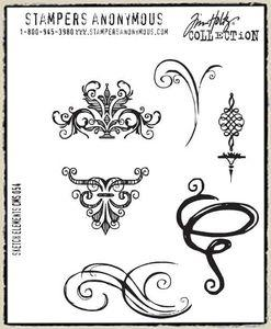 Tim Holtz® Stampers Anonymous - Cling Mount Stamps - Sketch Elements Stamps Tim Holtz Other