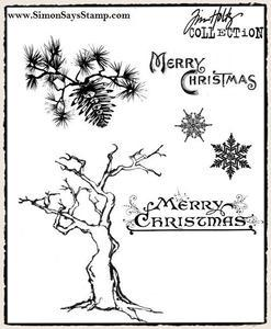 Tim Holtz® Stampers Anonymous - Cling Mount Stamps - Winter Sketchbook