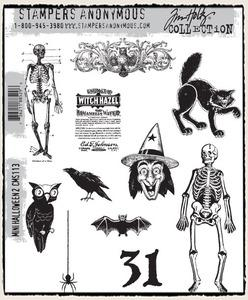 Tim Holtz® Stampers Anonymous - Cling Mount Stamps - Mini Halloween #2 Stamps Tim Holtz Other
