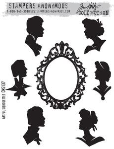 Tim Holtz® Stampers Anonymous - Cling Mount Stamps - Artful Silhouettes Stamps Tim Holtz Other