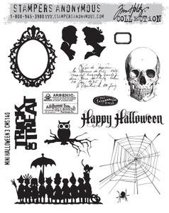 Tim Holtz® Stampers Anonymous - Cling Mount Stamps - Mini Halloween #3 Stamps Tim Holtz Other