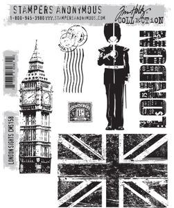 Tim Holtz® Stampers Anonymous - Cling Mount Stamps - London Sights Stamps Tim Holtz Other
