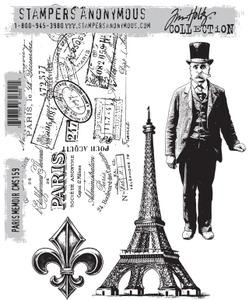 Tim Holtz® Stampers Anonymous - Cling Mount Stamps - Paris Memoir Stamps Tim Holtz Other