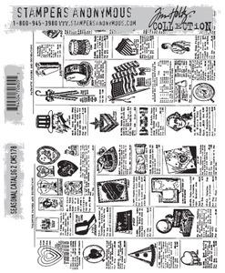 Tim Holtz® Stampers Anonymous - Cling Mount Stamps - Seasonal Catalog #2 Stamps Tim Holtz Other