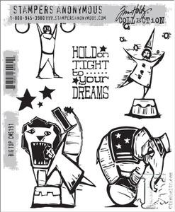 Tim Holtz® Stampers Anonymous - Cling Mount Stamps - Big Top Stamps Tim Holtz Other