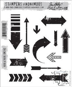 Tim Holtz® Stampers Anonymous - Cling Mount Stamps - Here & There Stamps Tim Holtz Other