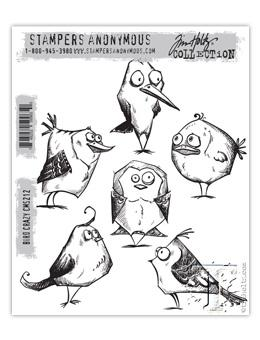 Tim Holtz® Stampers Anonymous - Cling Mount Stamps - Bird Crazy