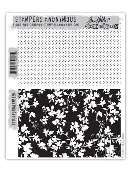 Tim Holtz® Stampers Anonymous - Cling Mount Stamps - Dots & Floral Stamps Tim Holtz Other