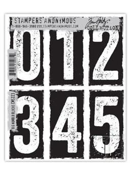 Tim Holtz® Stampers Anonymous - Cling Mount Stamps - Big Number Blocks Stamps Tim Holtz Other